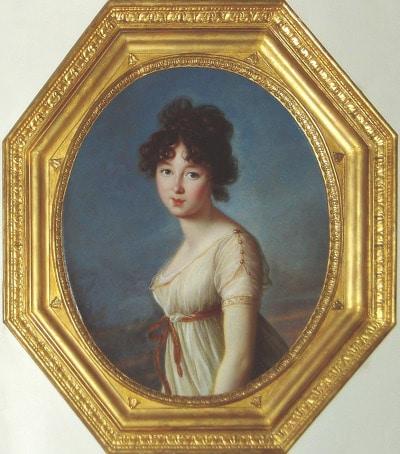 Aniéla Angelica Radziwillowna, future épouse du prince Konstanty Adam Aleksander Tadeusz Caztoryski, 1801, pastel sur papier brun marouflé sur toile, 42,2 x 32,1 cm, Paris, Petit Palais, musée des Beaux-Arts de la Ville de Paris