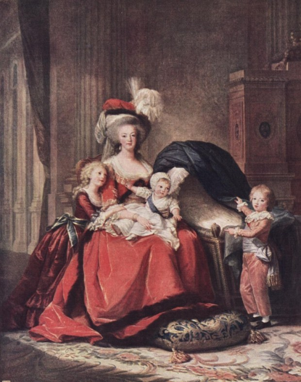 Portrait de Marie-Antoinette et ses enfants, 1786-1787, huile sur toile, 275 x 215 cm, Versailles, musée national des châteaux de Versailles et de Trianon