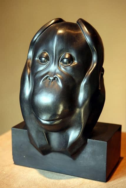 Tête d'Orang-outang, 1930, marbre noir, François Pompon;  Musée des beaux-arts de Dijon.