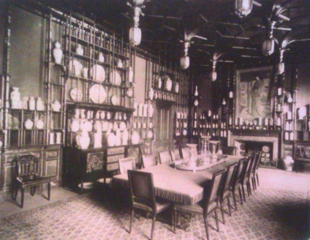 The Peacock Room Leyland's house, 49 Prince's Gate, London, in 1892, (c) Bedford Lemere.