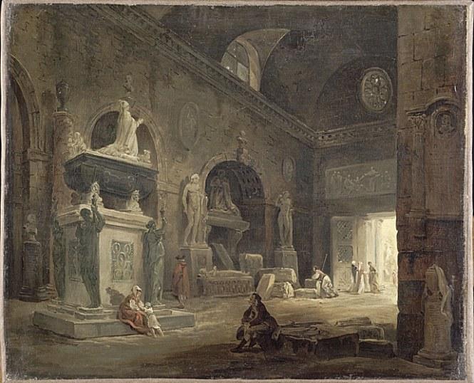Hubert Robert, vue de la salle d'introduction © RMN- Grand Palais ( musée du Louvre) / René- Gabriel Ojéda.