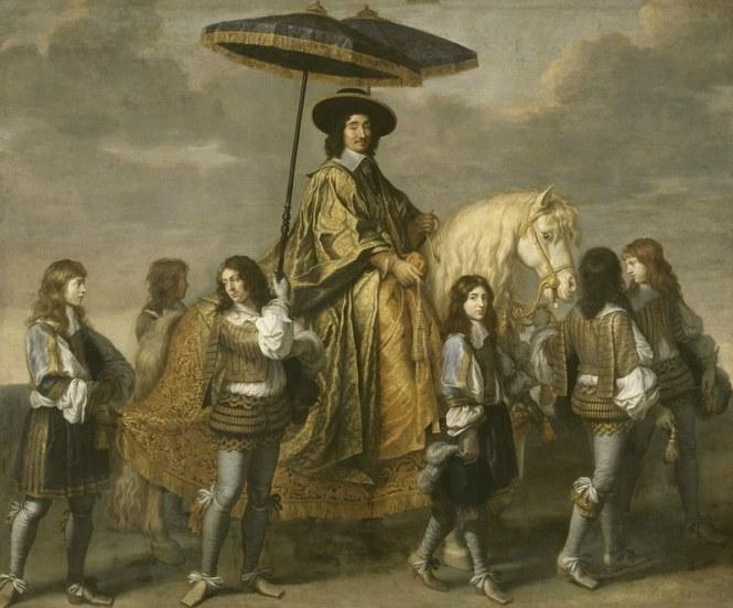 Charles Le Brun, Portrait équestre du chancelier Séguier, vers 1660, Paris, musée du Louvre © RMN-GP / Franck Raux.