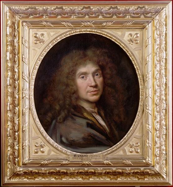 Pierre Mignard, Portrait de Molière © Chantilly, Musée Condé