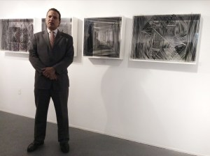 Jorge Rivas at the last exhibition