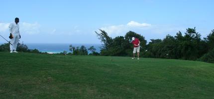 Pam golfing