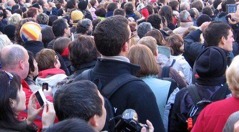 Mass of people