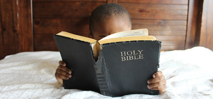 A boy and his Bible