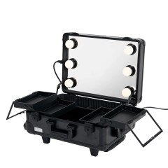 Sunrise - Beauty Trolley with Lamp WB-488-T-B - Black