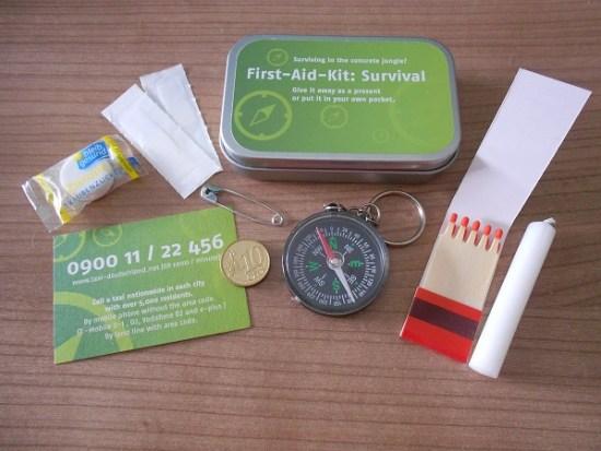 First-Aid-Kit: Survival gesamt ausgepackt Probenqueen