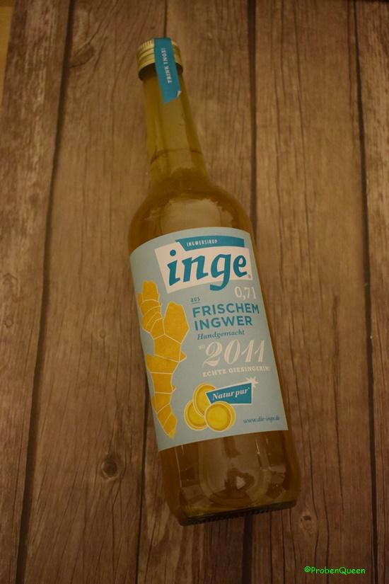 Inge wohnt bei mir Flasche Ingwersirup - Probenqueen
