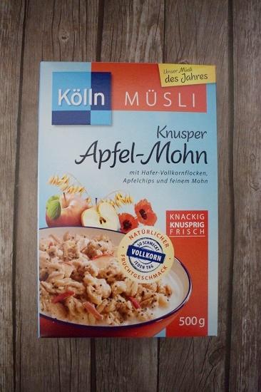 Brandnooz Box Februar 2017 Kölln Müsli Apfel Mohn Probenqueen
