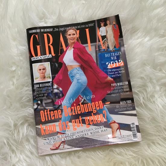 Grazia for Pinkbox Grazia-Zeitschrift-Probenqueen