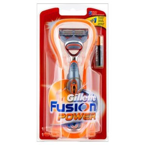 3. Gillette Fusion Power Razor With 1 Razor Blade Refill and Battery