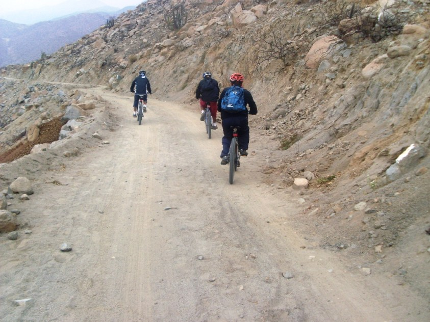 El descenso desde Portachuelo.