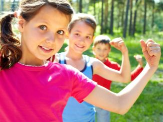 healthy kids using probiotics