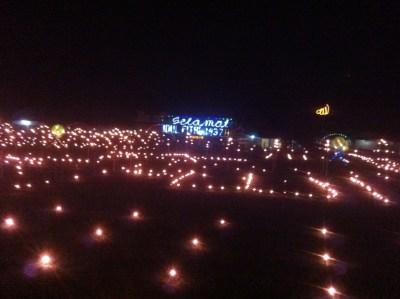 Tampak tata lampu pada Lomba Monuntul tahun lalu.
