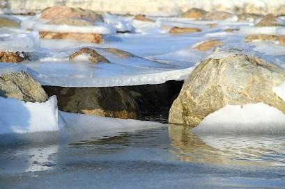 Winter 05 Eis Ostseebad Thiessow Insel Ruegen