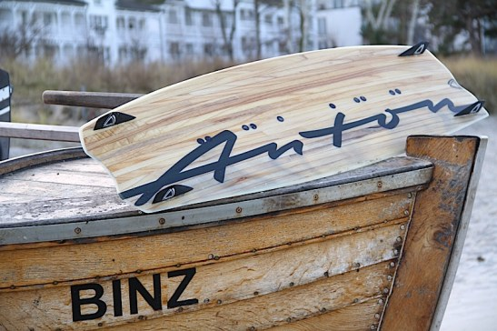 Anton Custom KiteBoard Bullet clear wood Proto 09