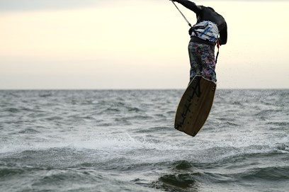 Anton Custom KiteBoard Bullet clear wood Proto 10