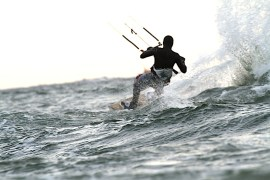 Anton Custom KiteBoard Bullet clear wood Proto 13