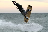 Anton Custom KiteBoard Bullet clear wood Proto 22