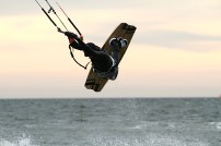 Anton Custom KiteBoard Bullet clear wood Proto 23