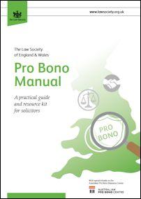 Law Society of England & Wales Pro Bono Manual