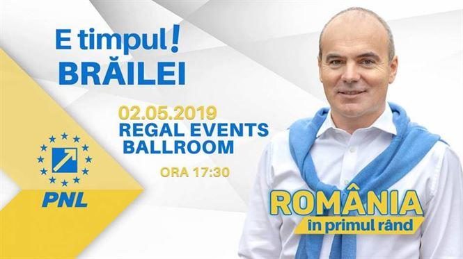 Rareș Bogdan vine joi la Brăila