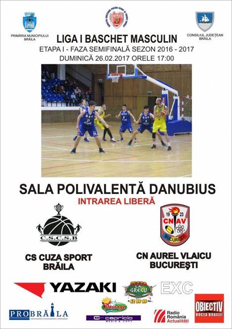 Cuza Sport Braila primeste vizita celor de la CN Aurel Vlaicu in prima etapa a fazei semifinale a Ligii 1