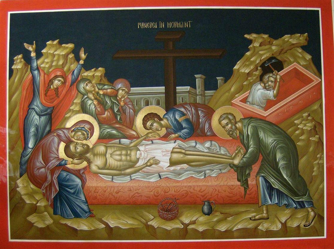 Sambata Mare. Punerea Domnului în mormant si coborarea Luminii sfinte la Ierusalim