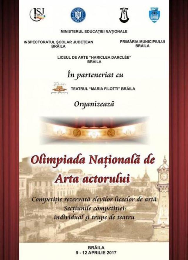 Olimpiada Nationala de ARTA ACTORULUI