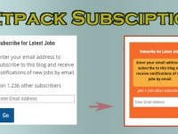 Jetpack Subscription Widget Customize