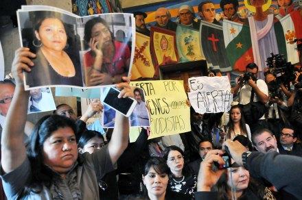 Periodistas protestan contra Duarte en Xalapa. Foto: Miguel Ángel Carmona
