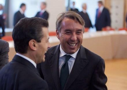 Peña y Azcárraga se reúnen en el Consejo Mexicano de Negocios. Foto: Eduardo Miranda