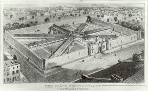 Aerial view of Eastern State Penitentiary, Library Company of Philadelphia