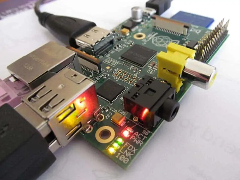 Raspberry Pi, a single-board computer running Linux.
