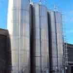 Raw material silo