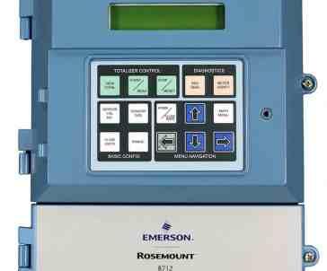 emerson-magnetic flow meter transmitter