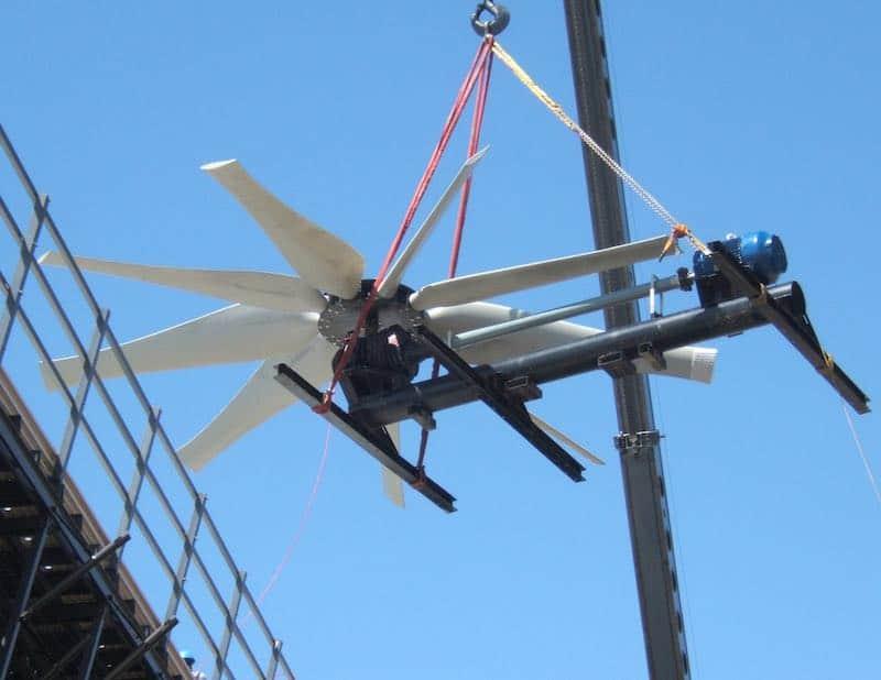Mechanische Fliege 3. Kühlturm Wiederaufbau