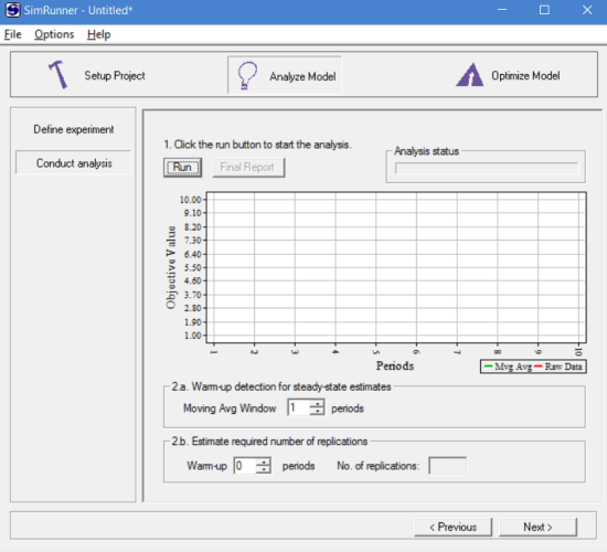 Conduct analysis in simrunner