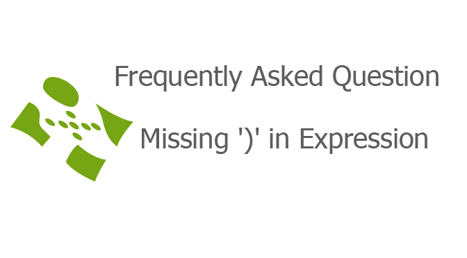 Missing ')' in Expression