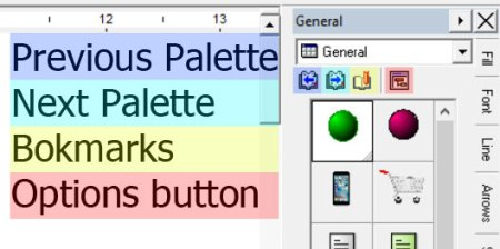 shape palette options