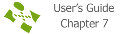 User's guide chapter 7
