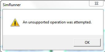 An unsupported operation was attempted.