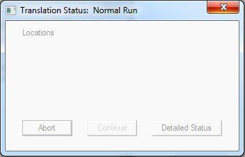 Translation Status: Normal Run