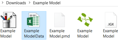 exported data file from processmodel
