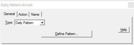 Properties dialog entity arrivals daily pattern ProcessModel software