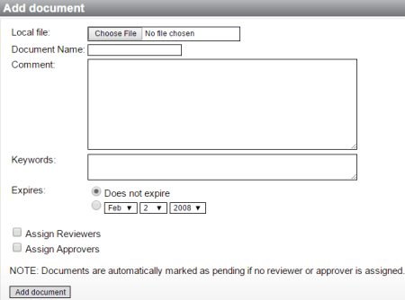 add document details in processmanager