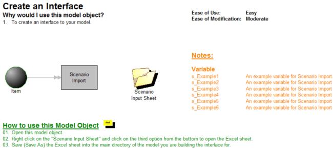 create an interface modelobject