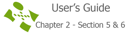 User's guide chapter 2 section 5 & 6